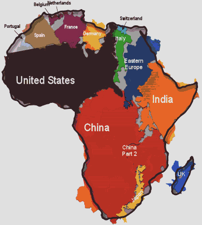 africa map other countries