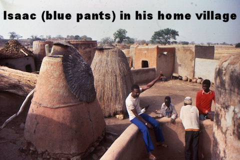 Ada Isaac in his home village
