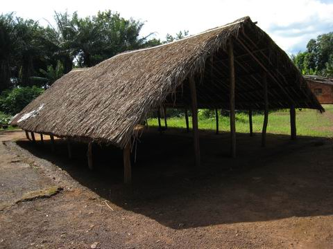 Palaver hut outside Isiro, DR Congo