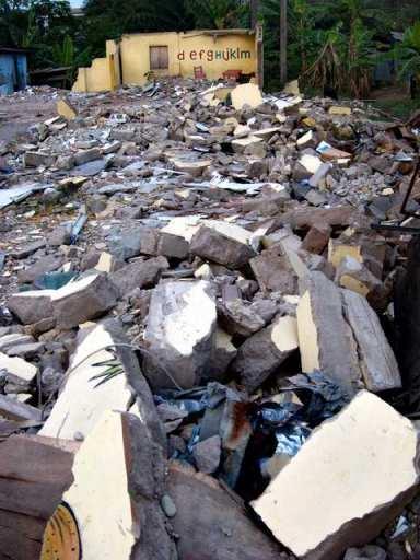 Demolished school