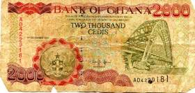 2000 old cedis (2001) - then worth a few dollars