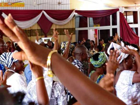 Worshiping on Palm Sunday in Tamale