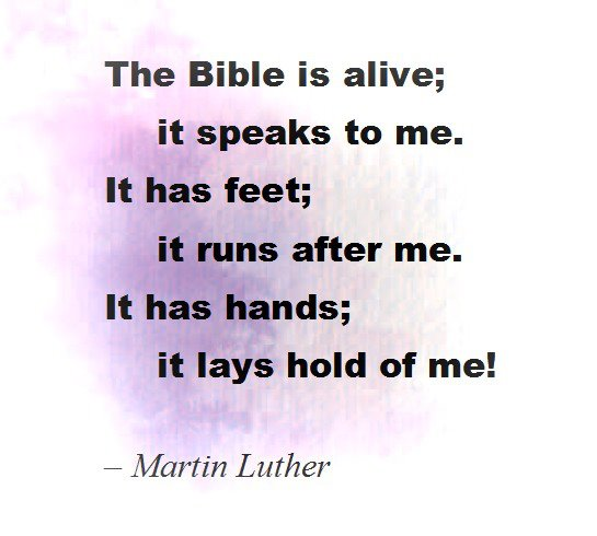 The Bible has hands and feet