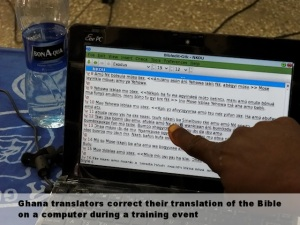 Translators correct translation on computer