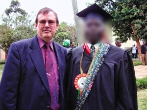 Ed and Congolese graduate