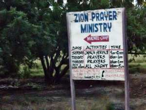 Sign - Zion Prayer Ministry