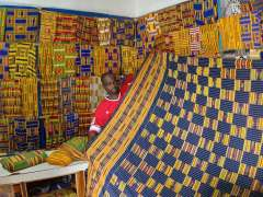 Kente cloth shop near Kumasi