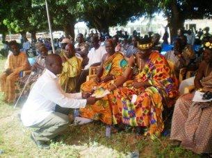 Nawuri Chiefs in Kente Cloth