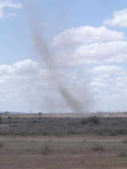 Dust devil in Burkina Faso