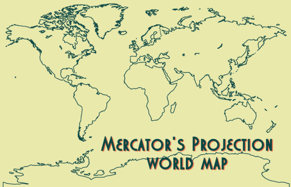 Mercators Projection World Map