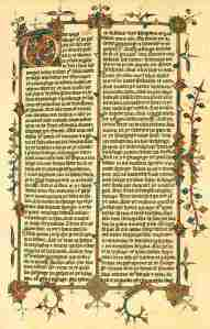 Page of John Wycliffe's translation