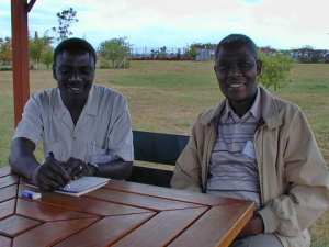 Sylvester Nkrumah (Ghana) and Uche Aaron (Nigeria), part of the first wave of national translators in Wycliffe's work in Africa