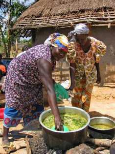 Ladies cooking for 700
