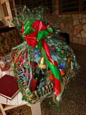 A Christmas hamper given to a friend of ours in 2011