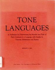 Tone Langauges book