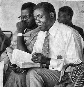John Agama, who was a part of expanding Bible translation in Ghana, reading the whole Bible in his language.