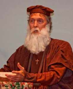 Friend and colleague Arthur Lightbody playing John Wycliffe
