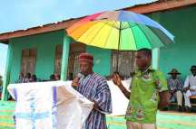 The representative of the Paramount chief giving his remarks. He