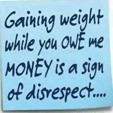 Gaining weight blurb