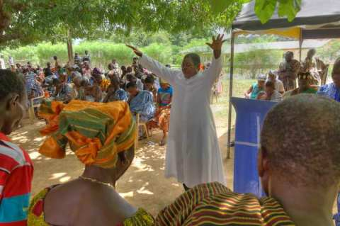 Prayer of dedication for three language committees in Ghana