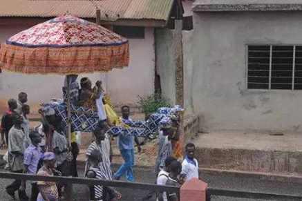 Chiefs in procession - Photo Joseph Gyebi
