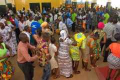 People from northern Ghana dance and sing in worship