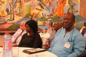 Rev Dr Browne (right), at a conference on translating the Bible
