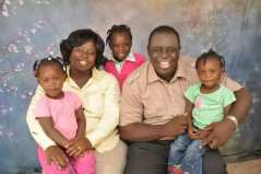 Joseph Gyebi and family