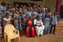 A Women's choir with the new Moderator