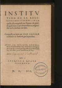 Calvin's Institutes in French