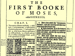 Genesis 1 in the 1611 edition of the King James Bible