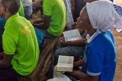 Ghanaian girls with Bibles in their languages