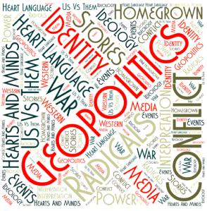 Geopolitics and language - cloud