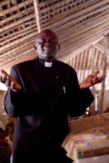 Mono pastor addressing congregation