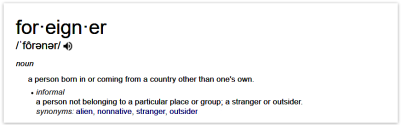 Definition of foreigner