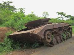 Abandonned armoured vehicle in Ivory Coast. Photo courtesy of a colleague.