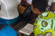 Young girls with their Bibles