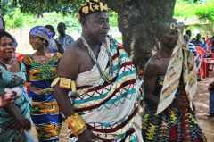 Chief in the Ghana's Volta enters a multi-ethnic event