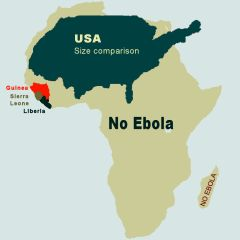 Ebola in Africa - Map