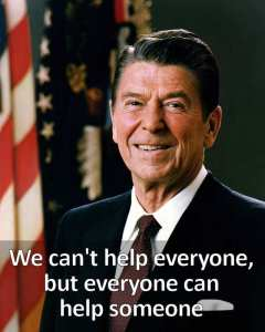 Reagan - everyone can help someone