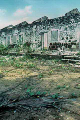 Ruins of the prison in Grand Lahou from which Harris escaped