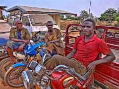 Roadside mechanics in Tamale, Ghana