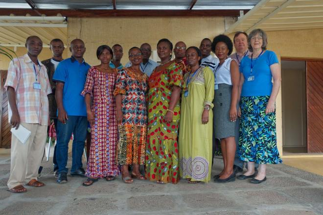 This is the great staff at the translation center in Abidjan. They do a great job.